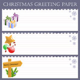 Christmas greeting paper with snowflakes Royalty Free Stock Images