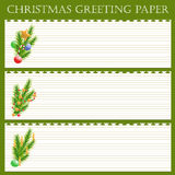 Christmas greeting paper Stock Photos