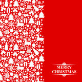 Christmas greeting patterned card Royalty Free Stock Image