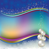 Christmas greeting pearl balls Stock Images