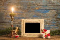 Christmas greeting photo frame card Stock Photo