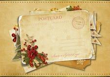 Christmas greeting postcard stock photo
