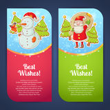 Christmas greeting postcards Royalty Free Stock Photo