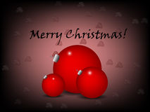 Christmas greeting with red ornament Royalty Free Stock Photography