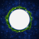 Christmas Greeting Ring Blue Background Royalty Free Stock Image