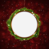 Christmas Greeting Ring Red Background Stock Photos