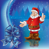 Christmas greeting with Santa Claus Royalty Free Stock Photos