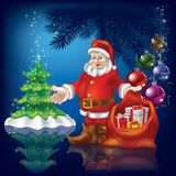 Christmas greeting with Santa Claus Stock Photography