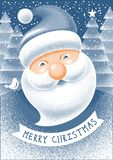 Christmas Greeting with Santa Claus royalty free illustration