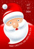 Christmas Greeting with Santa Claus vector illustration