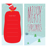 Christmas greeting with Santa Claus. Vector illustration Royalty Free Stock Image