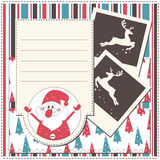 Christmas greeting scrapbook card Royalty Free Stock Photography