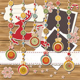 Christmas greeting scrapbook card Royalty Free Stock Photo