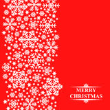 Christmas greeting snow card Stock Images