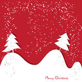 Christmas  greeting traditional red card Royalty Free Stock Image