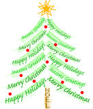 Christmas Greeting Tree/eps Stock Images