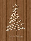 Christmas greeting with wooden background Royalty Free Stock Image