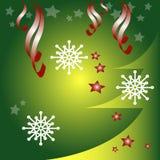 Christmas greetings. Christmas design with snowflakes and Christmas tree,  illustration Stock Photo