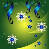Christmas greetings. Christmas design with snowflakes and Christmas tree Stock Images