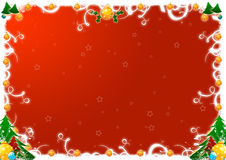Christmas greetings. Illustration for christmas greetings with swirl decoration Stock Photography