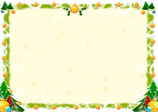 Christmas greetings. Illustration for christmas greetings with swirl decoration Stock Images