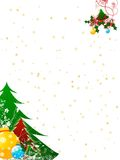 Christmas greetings. Illustration for christmas greetings with swirl decoration Royalty Free Stock Photography