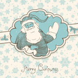Christmas greetings background in retro style. Stock Photos