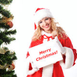Christmas greetings blank placard Royalty Free Stock Image