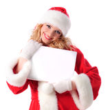 Christmas greetings blank placard Royalty Free Stock Photos