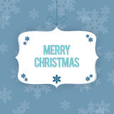 Christmas Greetings Blue Template Royalty Free Stock Image