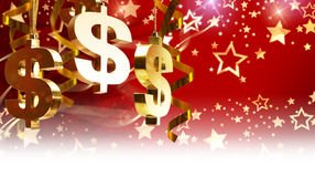 Christmas greetings for business Stock Photos