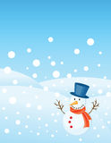 Christmas greetings card. Snowman illustrations for christmas greetings card Stock Photos