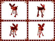 Christmas greetings card. With deers Royalty Free Stock Photos