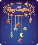 Christmas greetings card. Template of Christmas greetings card Stock Images