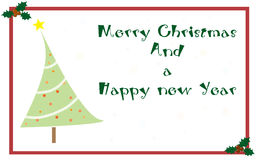 Christmas greetings card Stock Photography