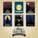 Christmas greetings card collection. The creative design of Christmas greetings card collection Royalty Free Stock Photo