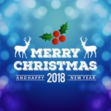 Christmas greetings card with dark background christmas cherries. And christmas tree.. For web design and application interface, also useful for infographics Stock Photos