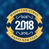 Christmas greetings card with dark blue background simple typog. Raphy.. For web design and application interface, also useful for infographics. Vector stock illustration
