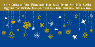 Christmas greetings card in different languages Stock Photography