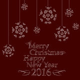 Christmas greetings card. Happy new year and merry christmas greetings card Royalty Free Stock Images