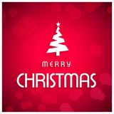Christmas greetings card with pink background and christmas tree. For web design and application interface, also useful for infographics. Vector illustration royalty free illustration