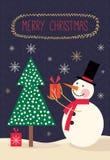 Christmas greetings card Stock Photography