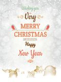 Christmas greetings card template. EPS 10 Royalty Free Stock Photos