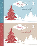 Christmas greetings cards Stock Photos