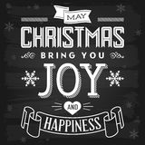 Christmas Greetings Chalkboard Royalty Free Stock Image