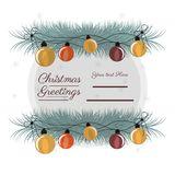 Christmas greetings design. With christmas lights icon over white background vector illustration Stock Image