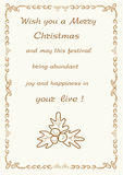 Christmas greetings frame background  illustration Royalty Free Stock Images