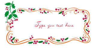 Christmas greetings frame with mistletoe Stock Photography