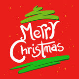 Christmas Greetings in Hand Writing Stock Photos