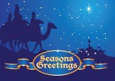 Christmas greetings kings Stock Images